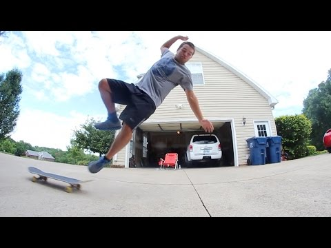 Friend Attempts to Ollie for the First Time!