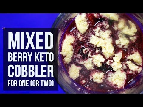 Mixed Berry Keto Cobbler for One or Two | Easy Low Carb Mug Dessert Recipe by Forkly