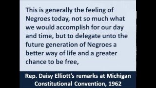 Rep. Daisy Elliott's Civil Rights Remarks at Michigan Constitution Convention, April 5, 1962