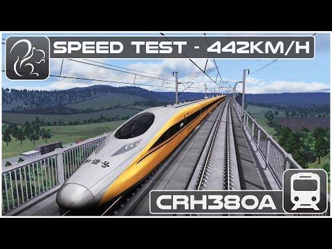 SPEED TEST! - Chinese CRH380A EMU (Train Simulator 2016)