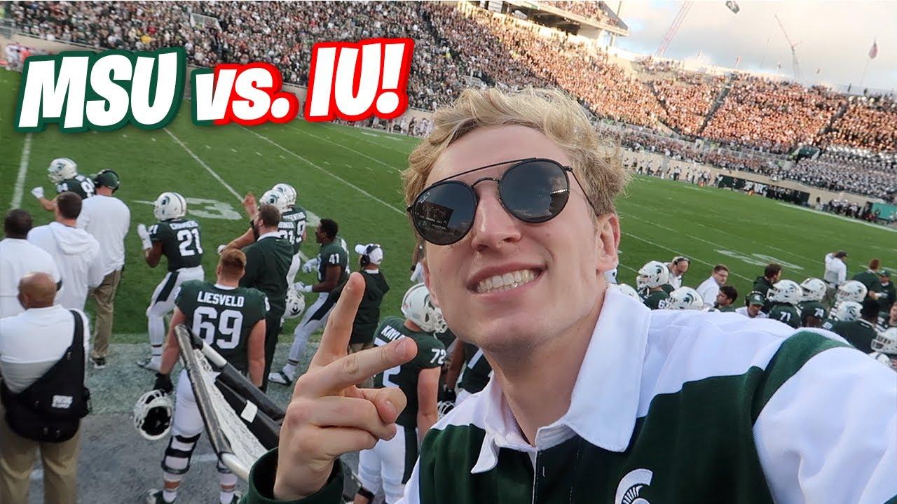 They Put Me On The Jumbotron TWICE! MSU vs. Indiana