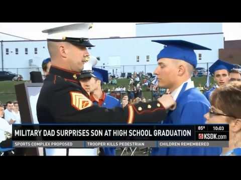 USMC dad surprises son at high school graduation