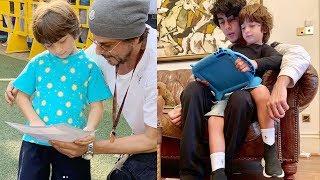 Must Watch : Shahrukh Khan With His Son Abram Khan & Aryan Khan Cute Video