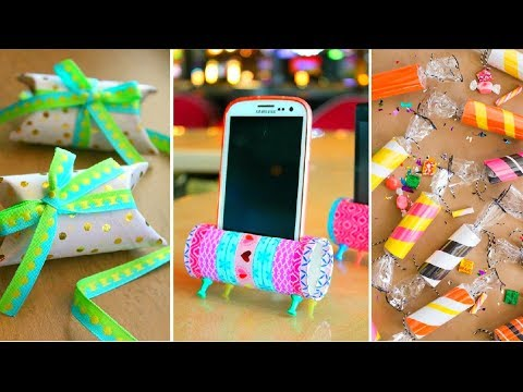 Unusual Uses for Empty Toilet Paper Rolls〰️Phone Holder ▪️ Gift Box ▪️ Faux Candy