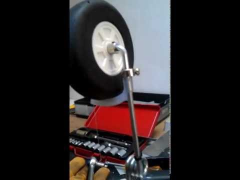 front wheel braking system for rc plane