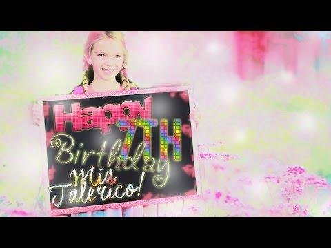 Happy 7th Birthday Mia Talerico