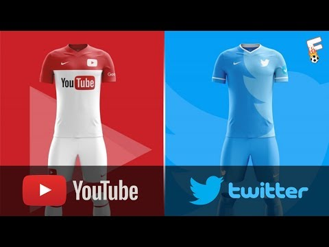 Most Populer App Store Football Kits Design ⚽ Youtube, Snapchat, Twitter, etc ⚽ Footchampion