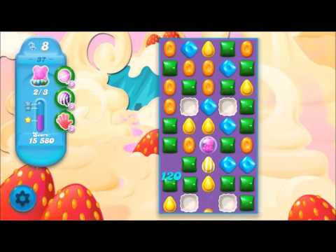 Candy Crush Soda Level 37 *Get the bear above the candy string*