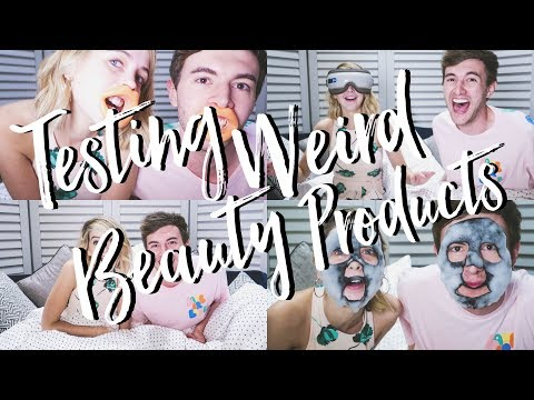 Testing Weird Beauty Products With Mark | Zoella