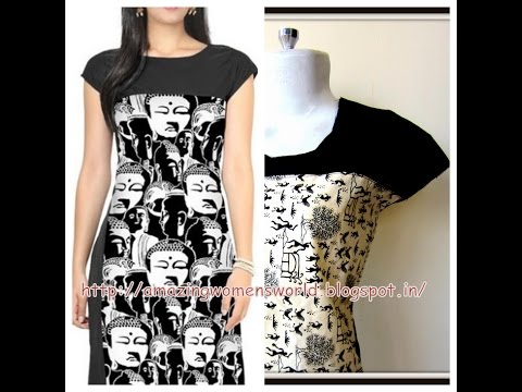 Yoke Style No Sleeve Pattern for Kurti   Kameez   Dress    Diy