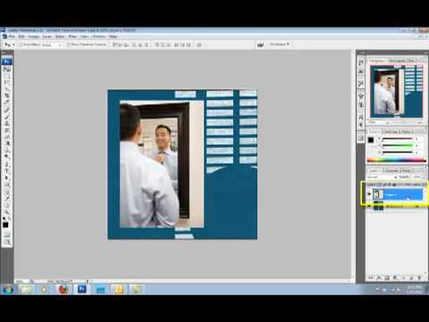 How to create a mirror image in Photoshop or PSE