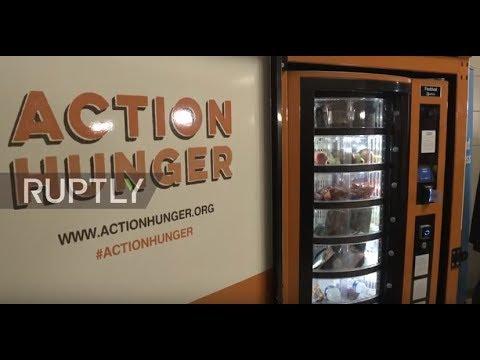 UK: Vending machine for homeless opens in Nottingham