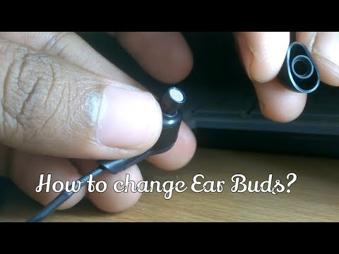 How to change the in ear headphone rubber pad