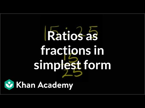 Ratios as fractions in simplest form | Pre-Algebra | Khan Academy