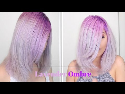 How to: Lavender Ombre hair color| Bleach gone wrong story