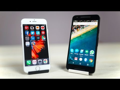 Nexus 5X vs iPhone 6S - Speed Test (Real Usage Conditions)