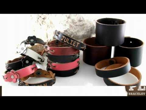 Personalized Name Gift Leather Bracelet