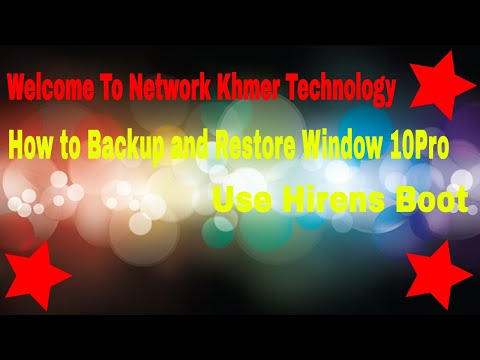 How to Backup and Restore Window 10  Use hirens boot cd windows 10