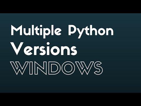 Using Multiple Versions of Python on Windows