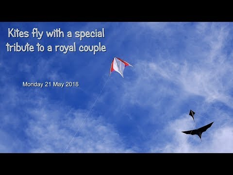 Kites fly with a special tribute to a royal couple