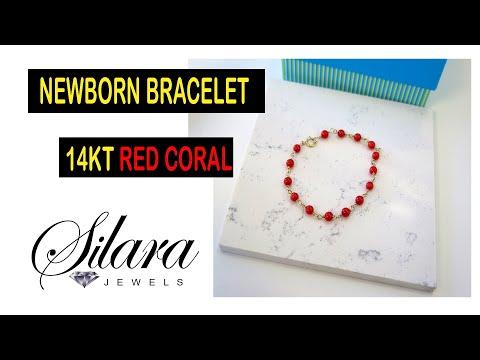 Newborn Red Coral Bracelet
