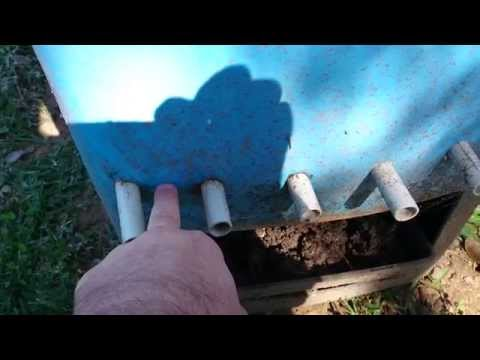 Worm Farm - wheelie bin flow thru - changes to build 080615