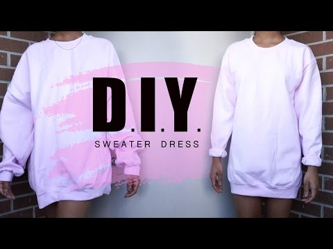 Summer DIY |  Oversized Crewneck to Sweater Dress