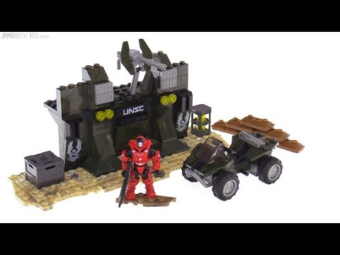 Rare Mega Construx Halo UNSC Builders Forge all 7 builds reviewed