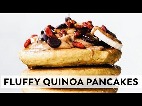 Fluffy Quinoa Pancakes // vegan & gluten-free