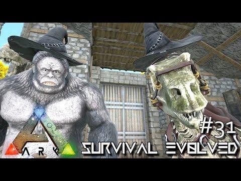 ARK: Survival Evolved - WITCH HAT & SKELETON DINO SKINS !!! [Ep 31] (Server Gameplay)