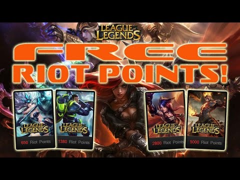 ** How to Get Free Riot Points in League of Legends 2016 (October) **