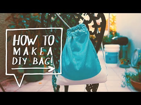 DIY DRAWSTRING BAG | How to Make a DIY Backpack for School | Sewing Project ✨Alejandra's Styles