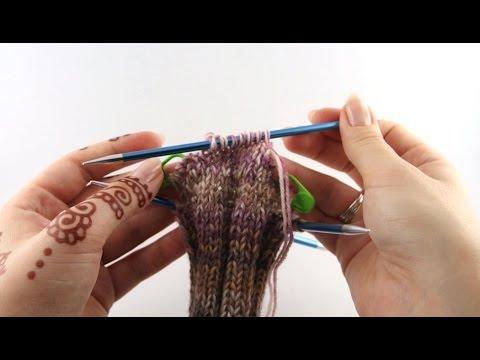 Sock with Ribbing Pattern #2 Heel