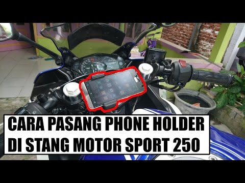 Cara Pasang Phone Holder di Stang Motor Sport