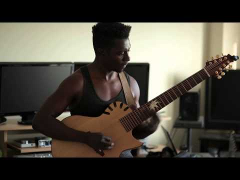 Tosin Abasi Plays Julien Bergeron #8 Acoustic 8 string guitar
