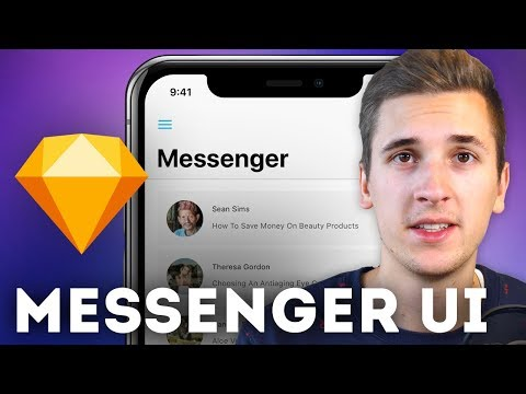 Messenger UI: iPhone X • Sketchapp Tutorial / Sketch Tutorial