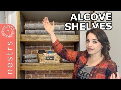 How to Build Alcove Shelves | Nestrs