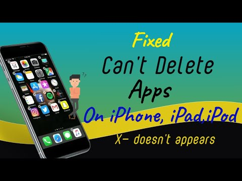 Fixed: Can't Delete Apps on iPhone, iPad, iPod - X doesn't appear