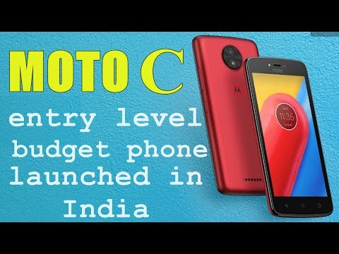 Moto C an entry level budget smartphone launched in India
