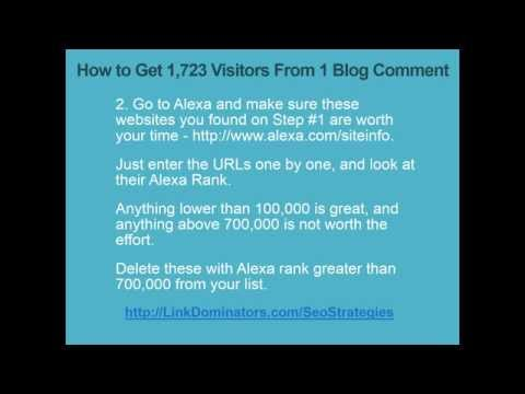 How to Get LOTS Of Traffic From 1 Blog Comment | 1 SIMPLE Blog Commenting Trick Drives 1723 Visitors