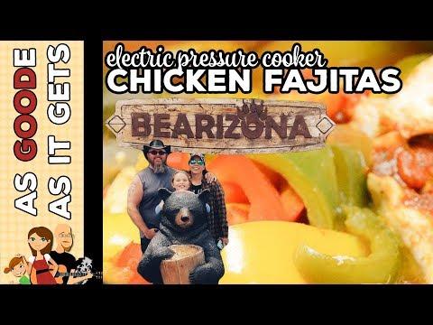 Electric Pressure Cooker Chicken Fajitas // Bearizona // RV Living