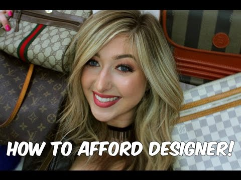 HOW TO AFFORD DESIGNER ON A COLLEGE BUDGET!