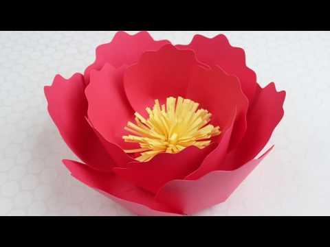 Paper Flower Tutorial using Template #6 Variation #2