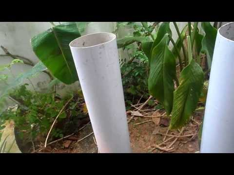 Pipe composting ,a simple way of disposal of degradable waste