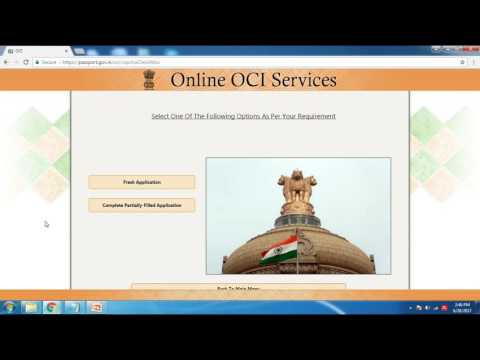 India - Apply for Duplicate OCI Card - In English