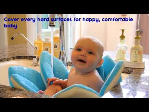 Baby Bath time ♥ Cute Baby Flower Bath Mat Sink Sponge Seat