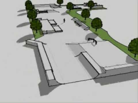 Google Sketchup: Skatepark Design 1 plaza
