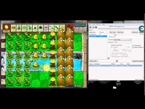How to Hack Plants vs Zombies using Cheat Engine (No Cooldown)
