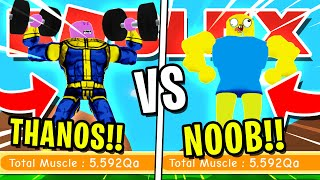 Download NOOB DISGUISE TROLLING!! NOOB VS THANOS! PRETENDING TO BE A NOOB IN ROBLOX LIFTING SIMULATOR!! Video