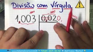 ⏱ DIVISÃO COM VÍRGULA NO DIVIDENDO E NO DIVISOR 👉 Minuto Matemática
